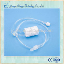 Medical disposable I.V. infusion flow drip control line