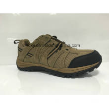 Coffee Suede Cemented Sole Safety Shoes (HQ0161031)