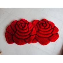 Günstiger Verkauf von Double Rose Paar Teppich