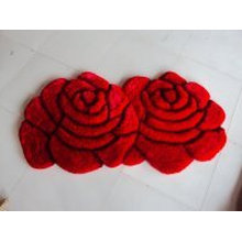 Cheaper Sales of Double Rose Couple Carpet