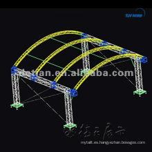 Soporte de exhibición de aluminio truss para stand de feria en Shanghai