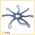 Plastic string cord zipper puller with logo