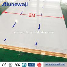 Panel compuesto de aluminio prefabricado exterior ancho de Alunewall 2 para la pared de cortina