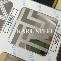 High Quality 304 Stainless Steel Color Ket006 Etched Sheet