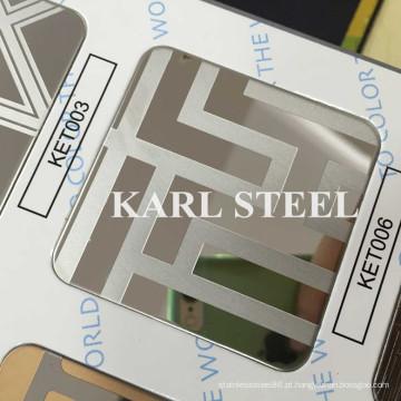 Folha gravada Ket006 de cor de aço inoxidável 410 de alta qualidade