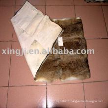 Plaque de fourrure de peau de lapin de lièvre chinois