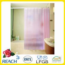 Cortina de chuveiro do PVC / cortina plástica do banheiro