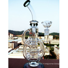 New Arrival New Design Bent Neck Recycler Glass Pipe avec prix de gros