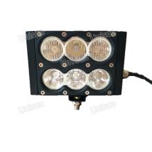 6inch 60W dupla linha 10watt CREE LED barra de luz, inundação / lâmpada de trabalho Spot