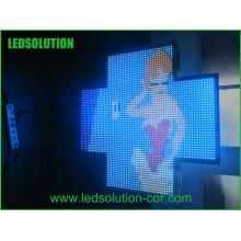 Señal cruzada de farmacia LED a todo color