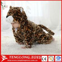 Животное стиль зима детская одежда детская пижама