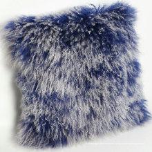 Cojín de lana de piel de oveja mongol movible