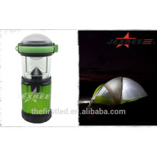 Lanterna de acampamento portátil de LED ao ar livre 500 lúmen de alumínio LED 4 x 1.5V AA camping luz