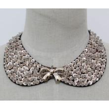 Modeschmuck Pailletten Halskette Kragen (JE0118)