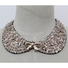 Fashion Jewelry Sequin Necklace Collar (JE0118)