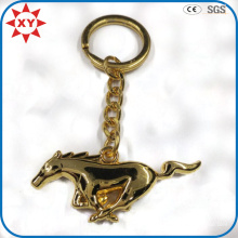 Neues Produkt Metall Vergoldung 3D Pferd Keychain für Geschenke