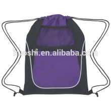 Drawstring duet bag with pocket