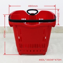 Wholesale nice red plastic shopping baskets
