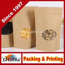 Bolsas de cremallera de pie de papel Kraft (220098)