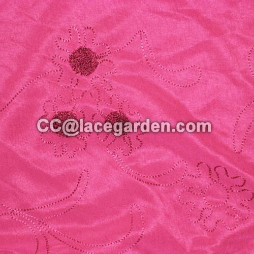 Chain Embroidery Fabric Using for Curtain