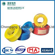 2015 Hochwertiger bunter 2mm PVC-isolierter elektrischer Draht