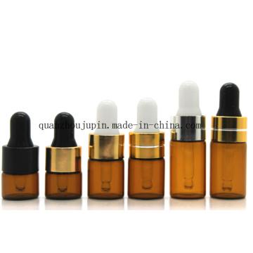 OEM Tawney Glass Travel Cosmetic Essential Oil Dropper Bottle