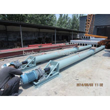 Industrial cement screw conveyor with silo