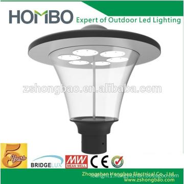 High bright CE Rohs certificate 3 years guarantee dome garden light decorative parking lot lighting led garden light fixture