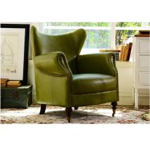 Silla del sofá de cuero clásico americano del salón