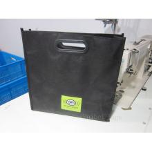 Porte-bagages PP sans tissus Sac à provisions avec poignées découpées (hbnb-536)