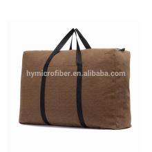 Logotipo modificado para requisitos particulares bolsa de lona de viaje barato con cremallera