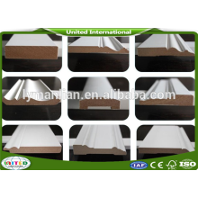 Decorative White Primed Wood Crown Mouldings