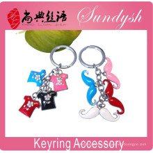 Wholesale Lovely keyring Promotional Colorful Moustache Shaped Metal Keychains