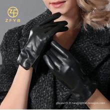 2014 fille mignonne vente chaude Item mince gants en cuir d'hiver