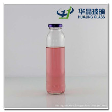 350ml Beverage Glass Bottle Milk Glass Bottle with Tin Lid