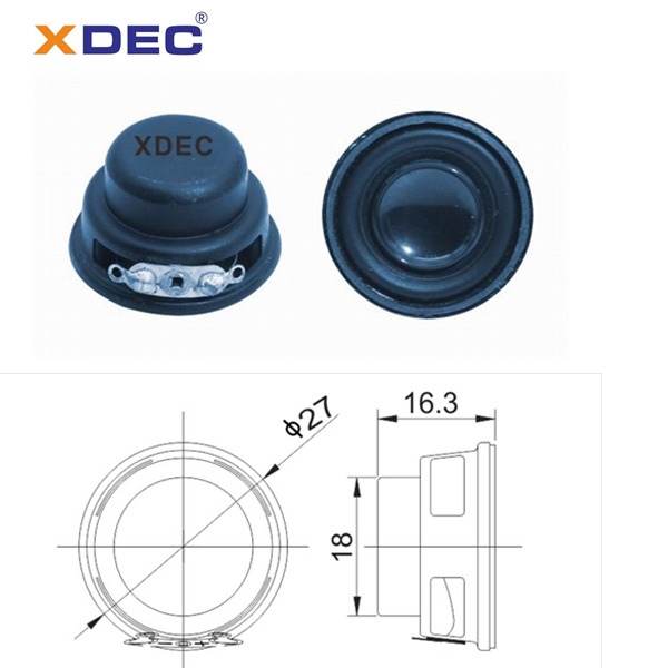 27mm Mini Speaker Unit