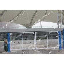 iron mesh fence gate