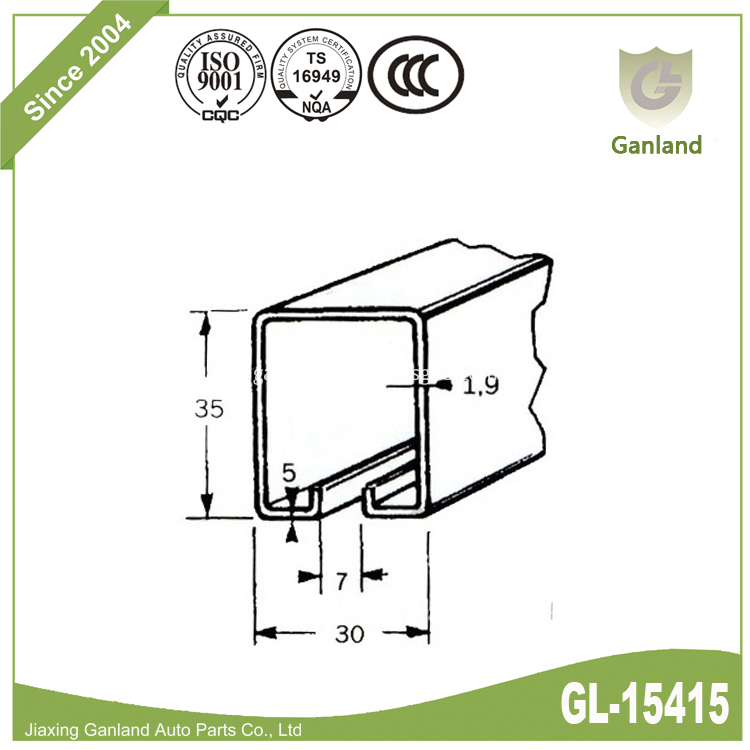 curtain track gl-15415