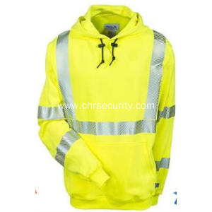 Ational Safety Apparel Yellow Flame-Resistant Sweatshirt