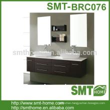 wall mount floating 60 inch Double Sink Bathroom Vanity Espresso 9022