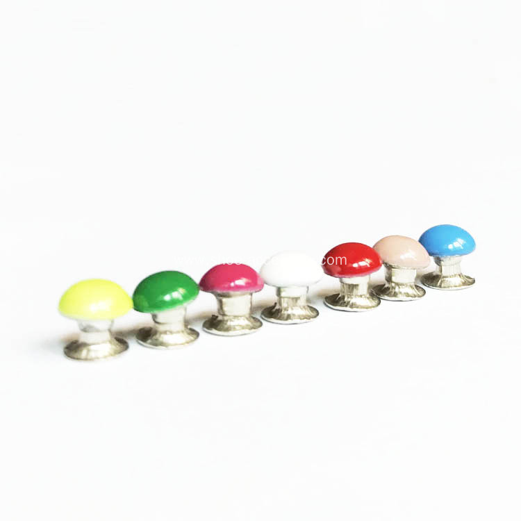 Domed Coloured Rivets for Leather Craft Project