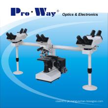 Microscópio biológico profissional da visão de Muti com cinco cabeças de visão (XSZ-PW510)