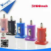 12V 1+2.1A Wholesale Cell Phone Micro Dual USB Car Charger for iPad/iPhone, Samsung