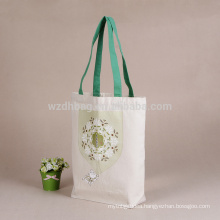 Standard Size Reusable Eco Printed Canvas Cotton Tote Shopping Bag
