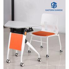 School Furniture Adjustable Office Table Folding Desk for Staff