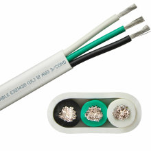 12awg  125v flat profile Marine tinned cable flat Triplex cable cat6 flat cable