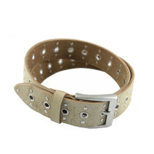 Punch hole eyelet pu cool belts for boys