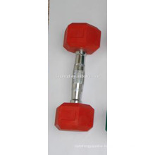 color rubber coated dumbbells