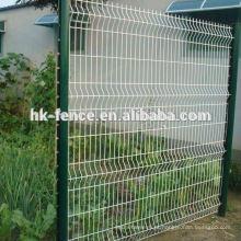 Alta qualidade soldada projeto de painel de cerca de arame de jardim de malha e polares de vedação