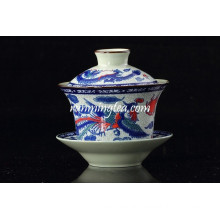 Traditional Dragon Phenix Tea Cup And Saucer Stands